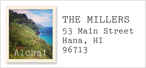 Photo Frame Address Label by Yours Truly