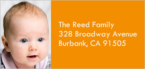 Classic Orange Address Label by Yours Truly