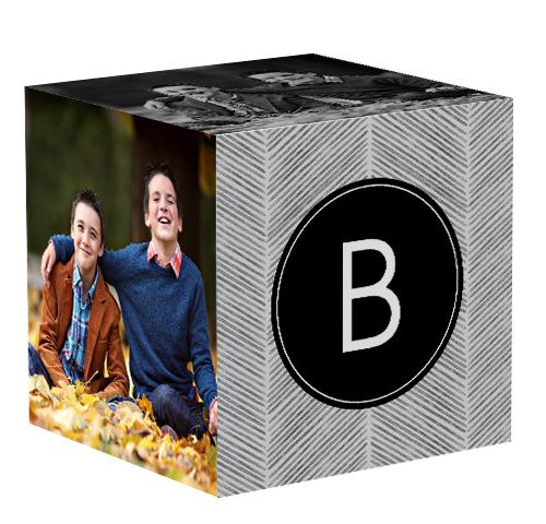 Family Herringbone 4x4 Photo Cube