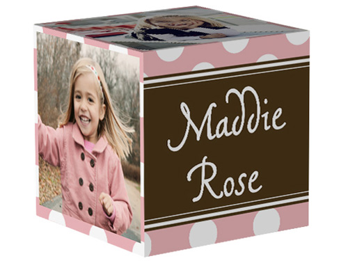 Dotted Rose 4x4 Photo Cube