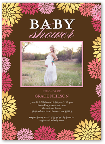 Blooming Frame Baby Shower Invitation
