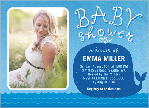 Showering Whale Baby Shower Invitation