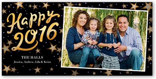 New Year Stars New Year's Card