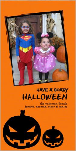 Scary Pumpkins Halloween Card