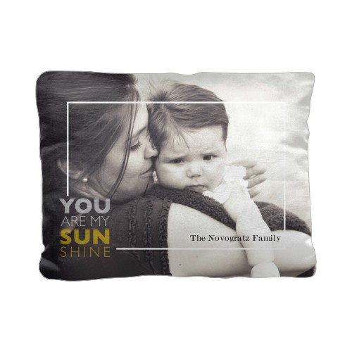 You Are My Sunshine Pillow White