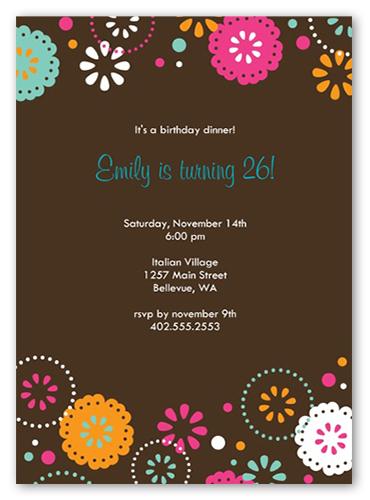 Cocoa Fiesta Party Invitation by Petite Lemon