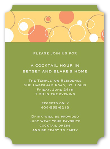 Bubbly Apple Party Invitation by Yours Truly