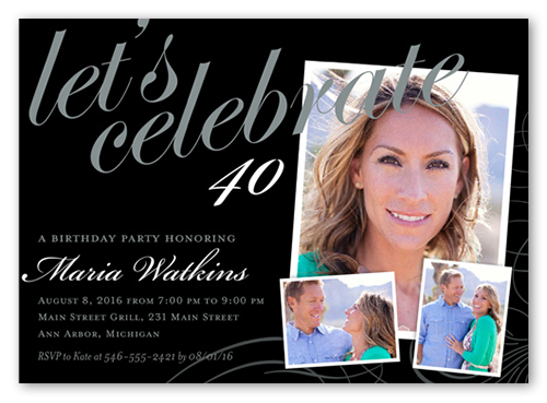 Framed Elegance Birthday Invitation by Brejer