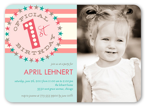 Officially One Birthday Invitation by Float Paperie