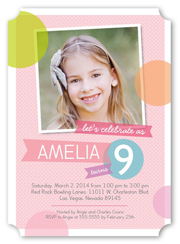 Party Bubbles Birthday Invitation by Blonde Designs