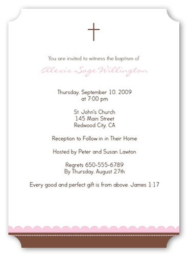 Girl Baptism Baptism Invitation by Yours Truly