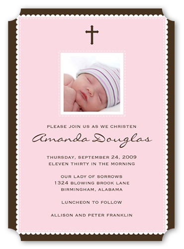 Faithfully Pink Baptism Invitation