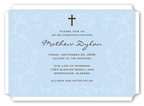 Blue Faith Baptism Invitation by Stacy Claire Boyd