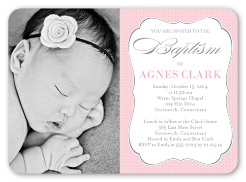 Lovely Script Girl Baptism Invitation by Blonde Designs