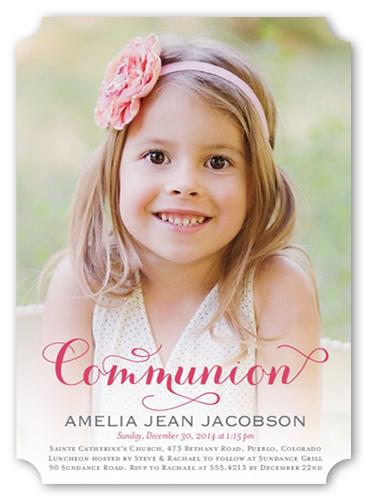 Delightful Day Girl Communion Invitation by Petite Lemon