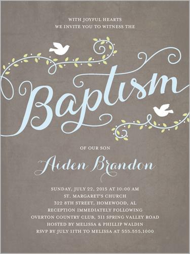Faithful Flight Boy 4x5 Invitation | Baptism Invitations ...