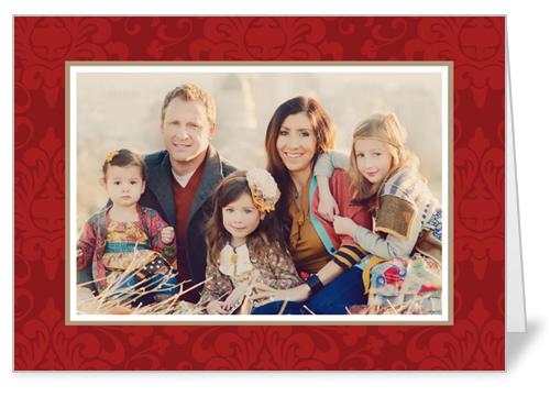 Brocade Red 5x7 Folded Card