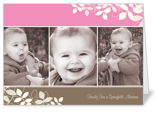 Lovely Branches Pink 5x7 Folded Card
