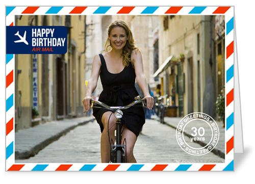 Air Mail Greetings Birthday Card by Petite Lemon
