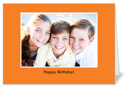 Classic Orange Birthday Card