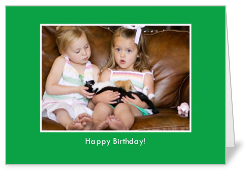 Classic Green Birthday Card
