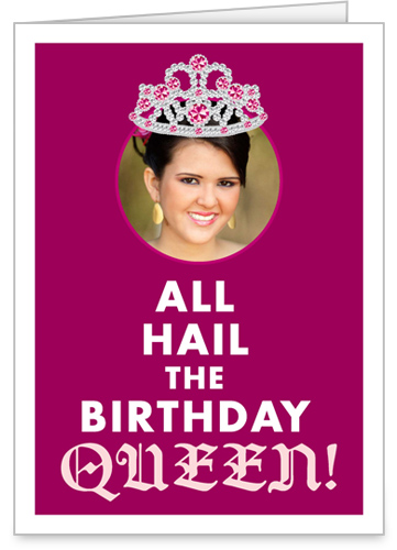Birthday Queen Birthday Card by treat.