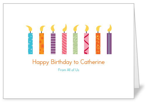 Candle Collection Birthday Card by treat.