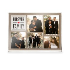 textured forever family acrylic block
