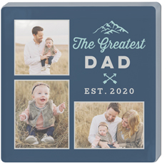 greatest dad watercolor acrylic magnet