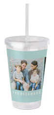 gallery of three acrylic tumbler with straw