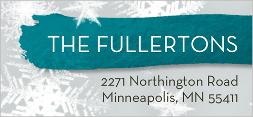 Joyful Snow Address Label