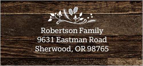 Rustic Greetings Address Label
