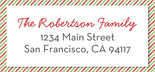Striped Snapshot Address Label