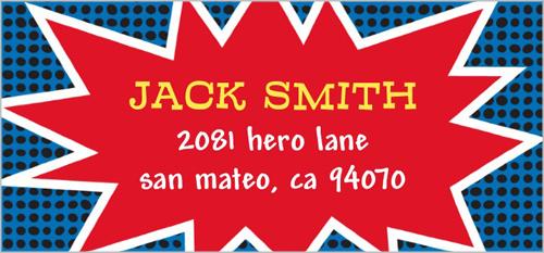 Super Hero Name Address Label