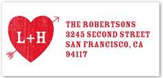 in love monogram address label