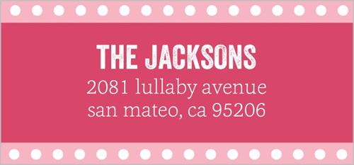 Dotted Banner Girl Address Label