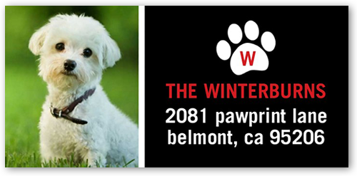 Paw Monogram Address Label