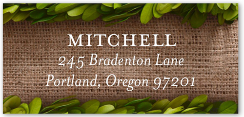 Boxwood Frame Address Label