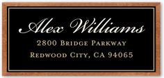 framed diploma collage address label