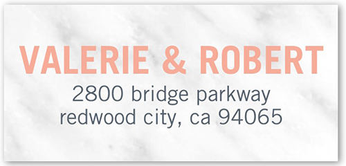 Merged Monogram Address Label