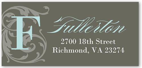 Flourish Monogram Boy Address Label