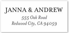 simply addressed address label