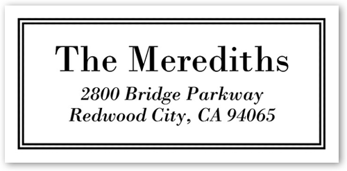Polished And Framed Address Label