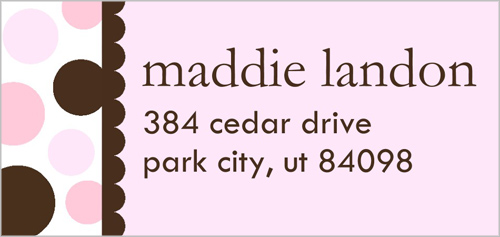 Cotton Candy Address Label