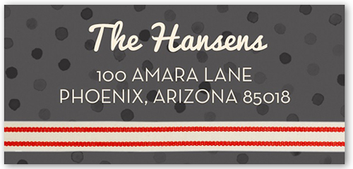 Outstanding Ribbon Address Label