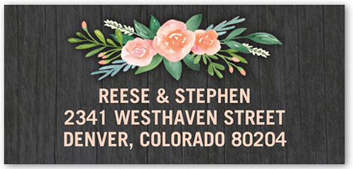 Floral Bouquet Address Label