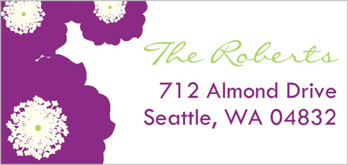 Rosey Posey Plum Address Label