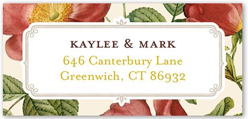 Vintage Floral Border Address Label