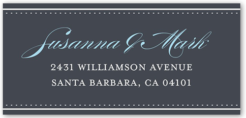 Our Marriage Address Label
