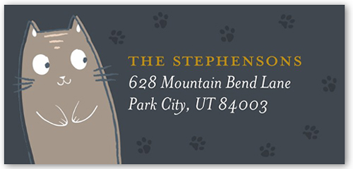 Absolutely Purrfect Address Label
